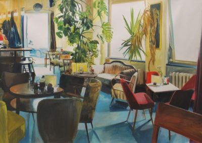 Recuerdos del café Royal | Oil on canvas | 14x162cm