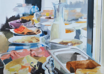 BRUNCH | Oil on canvas | 100x80cm
