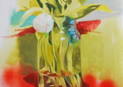 STUDIE VASE | Oil and spray on canvas | 45x37cm