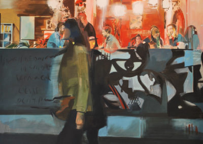 NOCHE DE FIESTA | Oil and spray on canvas |