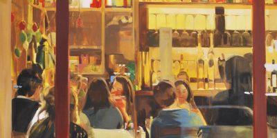 EN EL ITALIANO |Oil and spray on canvas | 146x114cm